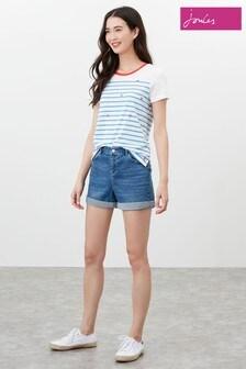 Joules Blue Shirley Denim Shorts