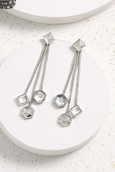 3 Row Drop Earrings