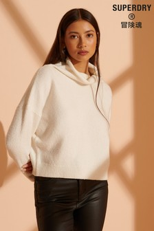 Superdry Isabella Cropped Funnel Neck Jumper