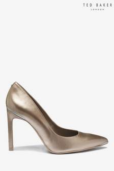 Ted Baker Gold Metallic Court Shoes