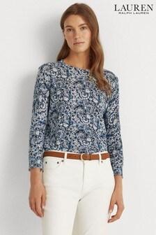 Lauren Ralph Lauren® Blue Floral Meggie Jumper