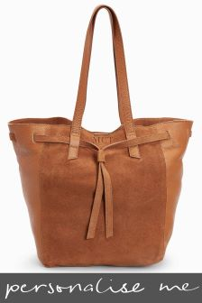 Personalised Leather Shopper