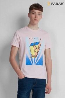 Farah Pink Haze Harper Graphic Tee