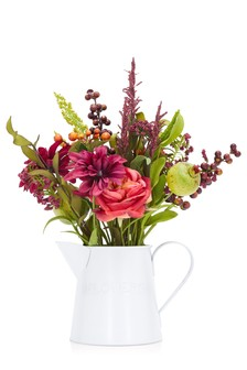 Artificial Bright Florals In Jug