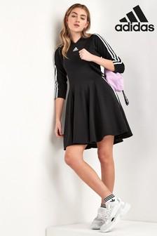 adidas Black 3 Stripe Dress