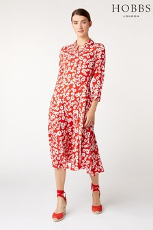Hobbs Red Frederica Dress