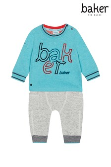 baker by Ted Baker Multi Baker Logo T-Shirt & Jogger Set