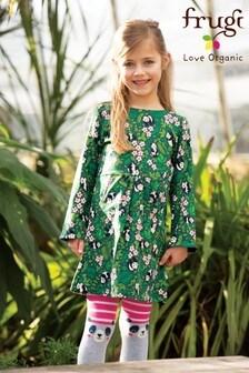 Frugi Organic Jumper Dress In Panda Print