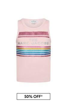 Marc Jacobs Girls Pink Cotton Tank Top