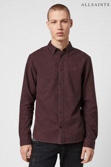 AllSaints Burgundy Elba Shirt