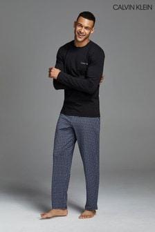 Calvin Klein Black Check Pyjama Set