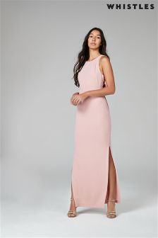 Whistles Pink Tie Back Maxi Dress