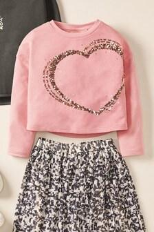 Heart Sequin T-Shirt (3-16yrs)
