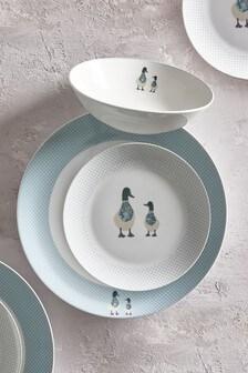 Daisy & Daphne Duck 12 Piece Dinner Set