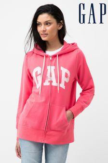 Gap Logo Easy Zip Through Hoodie