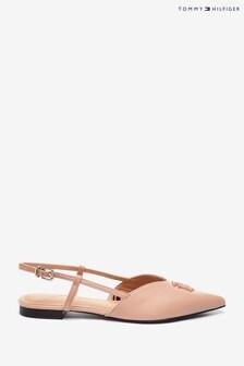 Tommy Hilfiger Natural Feminine Pointed Ballerina Sandals