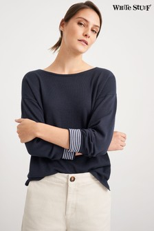 White Stuff Navy Olivia Jumper
