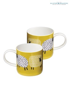 Set of 2 Ulster Weavers Dotty Sheep Mugs