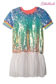 Billieblush White Sequin Skater Dress