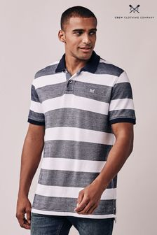 Crew Clothing Company Blue Oxford Poloshirt