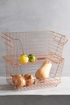 Wire 2 Tier Storage Baskets