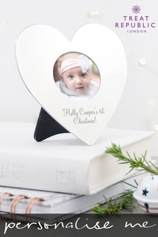 Personalised Heart Photo Frame by Treat Republic