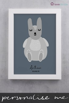 Personalised Scandi Rabbit Wall Art by Loveabode