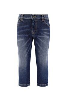 Dolce & Gabbana Baby Boys Navy Cotton Jeans