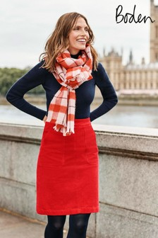 Boden Red Leonie Cord Mini Skirt