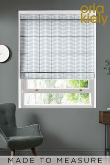 Scribble Stem Grey Made To Measure Roman Blind by Orla Kiely