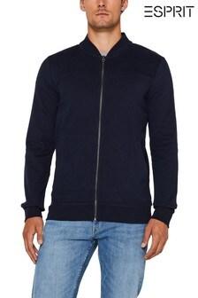 Esprit Navy Zip Sweat Jacket
