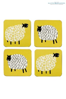 Set of 4 Ulster Weavers Dotty Sheep Coasters