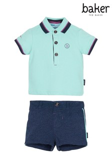 baker by Ted Baker Multi Polo And Short Set