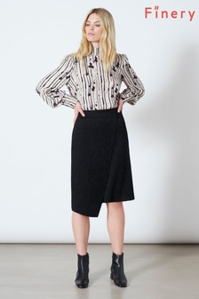 Finery London Black Fawnley Skirt