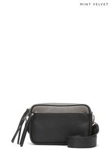 Mint Velvet Grey Heidi Zip Detail Camera Bag