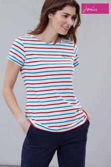 Joules Red Nessa Embroidered Lightweight Jersey T-Shirt