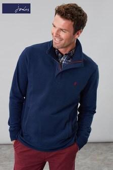 Joules Blue Deckside Half Zip Sweatshirt