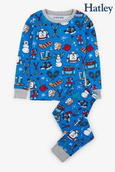 Hatley Blue Winter Traditions Kids Pyjama Set