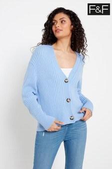 F&F Blue Stitch Button Cardigan
