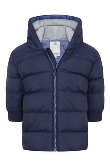 Baby Boys Navy Hooded Padded Jacket