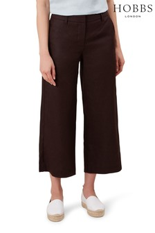 Hobbs Brown Nicole Crop Trousers