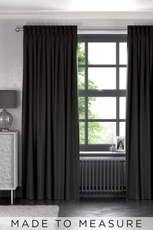 Made To Measure Charcoal Soft Velour Curtains