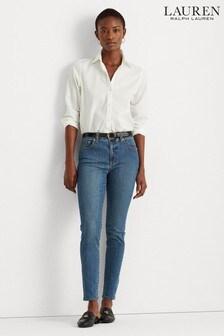 Lauren Ralph Lauren® Blue Wash High Waist Skinny Ankle Cropped Jeans