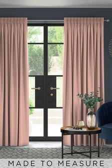 Made To Measure Blush Soft Velour Curtains
