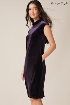 Phase Eight Purple Joelle Velvet Dress