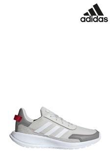 adidas Grey/White Tensaur Run Junior And Youth Trainers