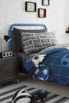Football Duvet Cover and Pillowcase Set by Bedlam