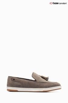 Base London® Grey Pogo Suede Slip-On Shoes