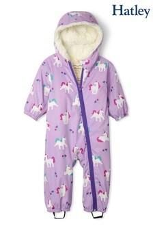 Hatley Playful Unicorns Colour Changing Baby Bundler Puddlesuit