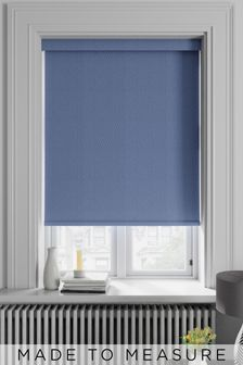 Arden Denim Blue Made To Measure Blackout Roller Blind